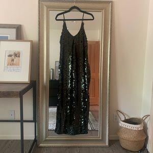 Free People Intimately Dark Blue Sequin Dress XS